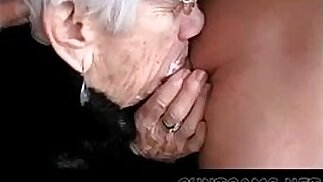 Granny Sucks Cock for Her Birthday More