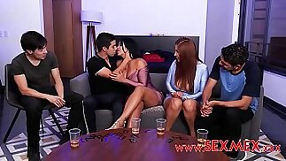 VIKA BORJA GALI DIVA BOYS PLAY AN EROTIC GAME OF CARDS WITH SEXY MOMMYS