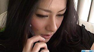 Strong fuck for brunette hottie Kyoka Ishiguro