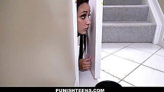 PunishTeens Teen Evie Olson Brutally Fucked For Disobeying Her Master