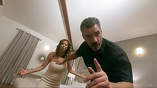 Pathetic Cuck Watches Wife get Slammed by Hung Police Officer FULL SCENE