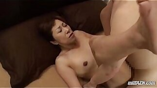 Mature Woman With her Hairy Pussy licked and Fingered And Fucked Hard By Young Guy Creampie
