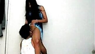 desi indian girl licked in standing position by bf