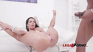Veronica Avluv fisted by Lady Dee, assfucked by monster cocks pissed all over