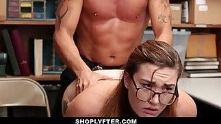 Shoplyfter Stripped Down and Inspected For Stealing Kat Monroe