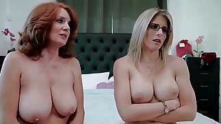 Redhead granny and mom wants me Andi James and Cory Chase