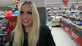 Lucy Cat Fucking in Supermarket - Sex Im Supermarket - Public
