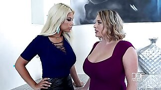 Sapphic Examination Busty Babes Play With Their Tits