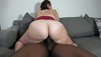 Wife Take Two Loads While her Husband Films