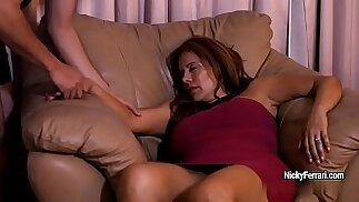Juicy mature redhead is having a surprise while she s.