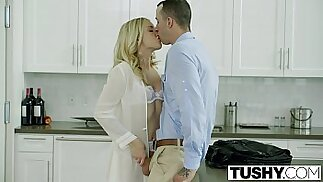 TUSHY Bosses Wife Karla Kush First Time Anal threesome With Office Assistant